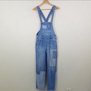 Zara Multicolor Denim Overall Jeans Jumpsuit XS